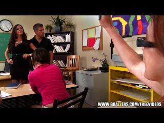 Big-tit Latina teacher gets a sex ed lesson