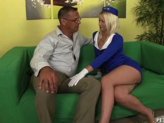 Sexy Air Hostess Gets Fucked