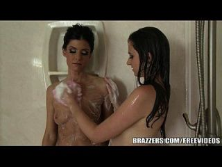 Brazzers - Stepmom And Teen Have Some Fun In The Shower