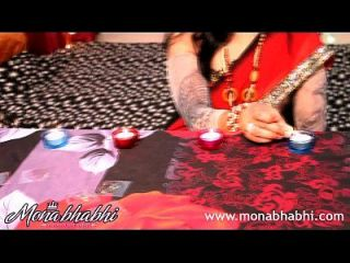 Indian Aunty Mona Bhabhi Celebrating Diwali Sex
