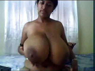 Indian tits huge big