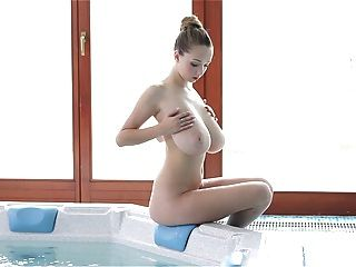 Perfect lady with big boobs get fucking in bath room