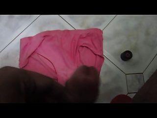 Indian Penis Ejaculates On Rose Panties