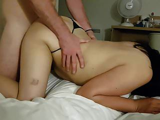 Latina milf takes it anal from old man
